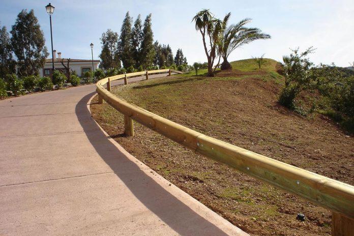 barrera protección madera