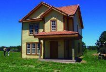 Casa de madera-sistema canadiense