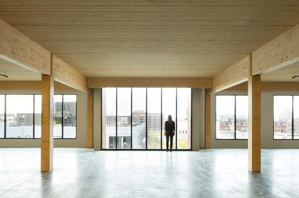 edificio en madera michael green t3