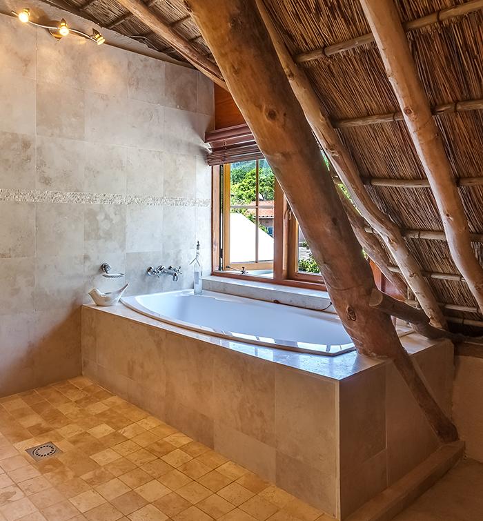 madera en el baño