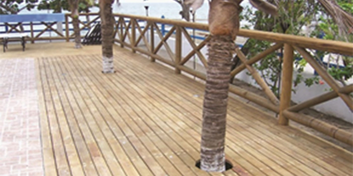 decks pisos exteriores madera
