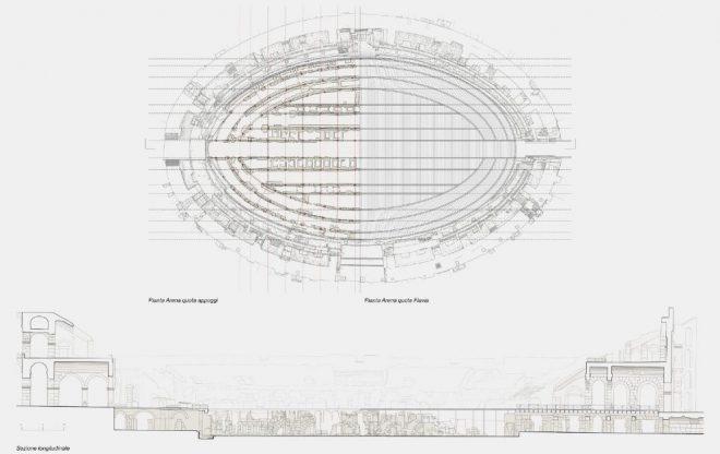 Nuevo Coliseo romano madera