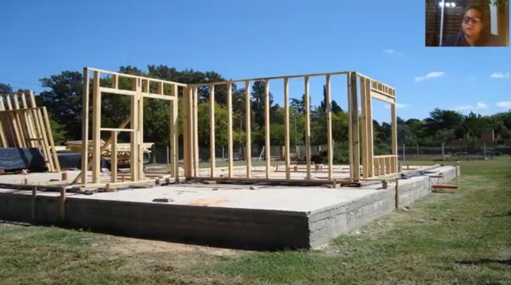 Construcción madera plataforma fundaciones