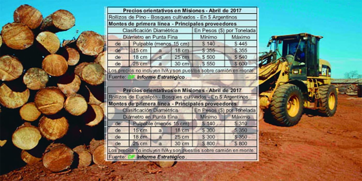 misiones precios rollos pino